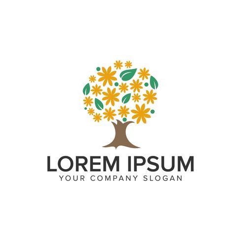 kreative Baum-Logo-Design-Konzept-Vorlage. vektor