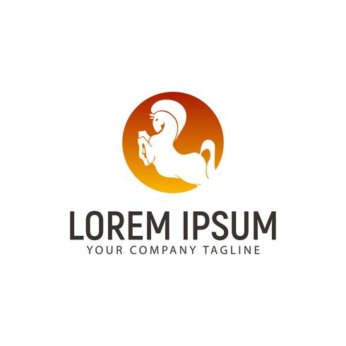 Pferd Logo Design-Konzept-Vorlage vektor