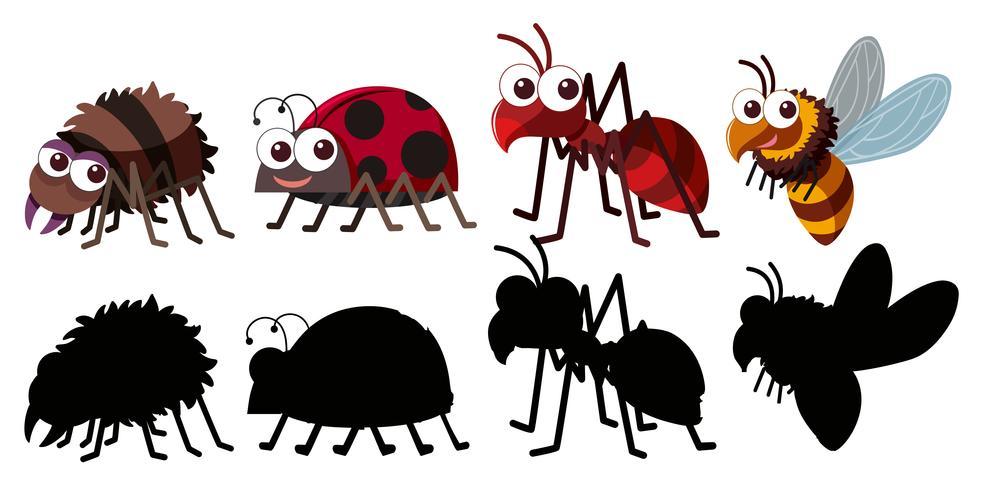 Set des Insektzeichens vektor