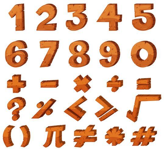 Teckensnittsdesign för nummer vektor