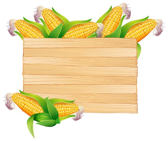 Corns i trä hink vektor