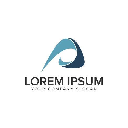 kreativt modernt brev En logotypkonceptkonceptmall. vektor