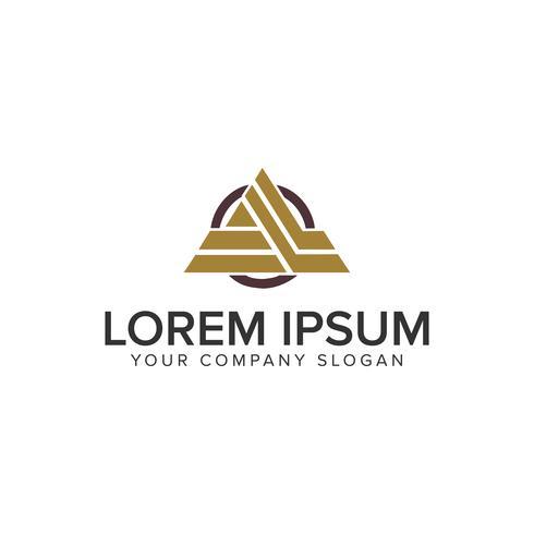 Cative Modern Letter En designkonceptmall för logo vektor
