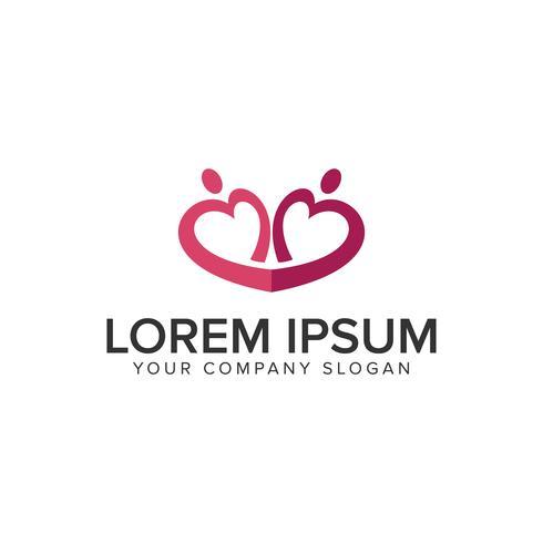 Dating paar Liebe Leute Logo Design-Konzept-Vorlage. voll ed vektor