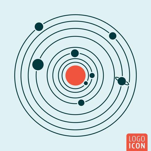 Solsystem ikon vektor