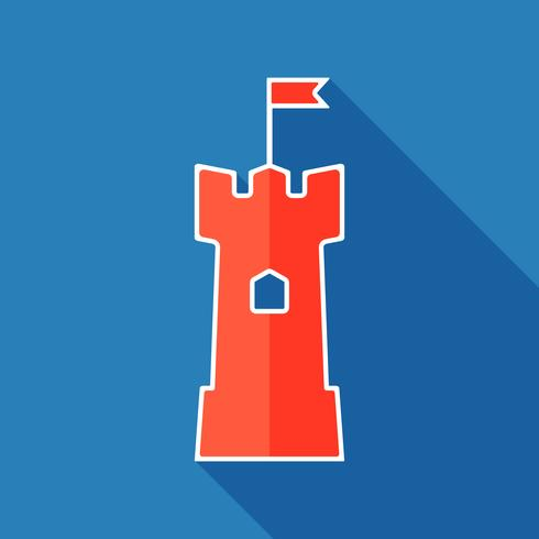 Torn platt ikon vektor