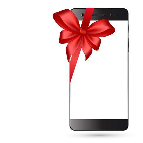 Smartphone med båge isolerad vektor
