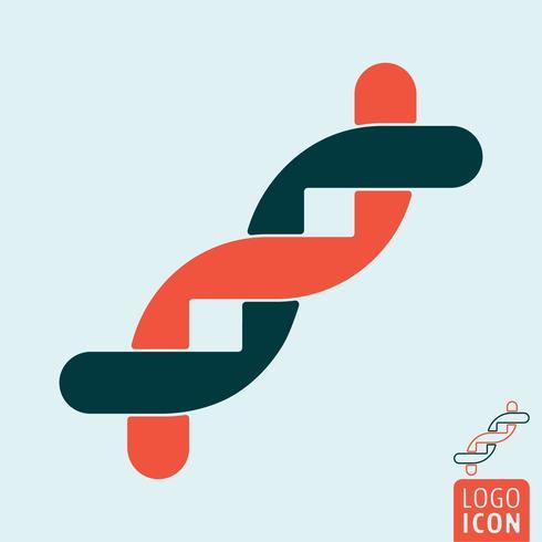 DNA ikon isolerad vektor
