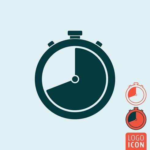 Stopwatch ikon isolerad vektor