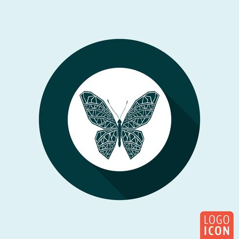 fjäril ikon isolerad vektor