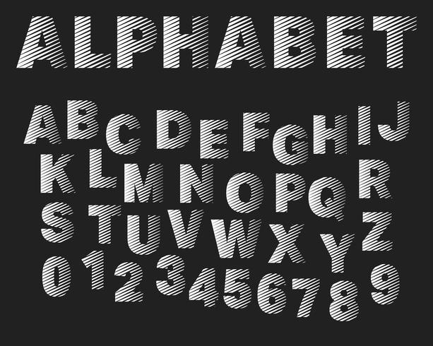 Streifen Buchstaben und Zahlen vektor
