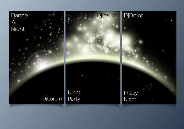 club party flyer vektor