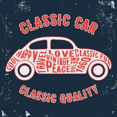 Bil vintage frimärke vektor