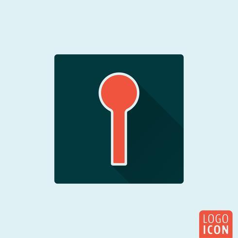Nyckelhål ikon isolerad vektor