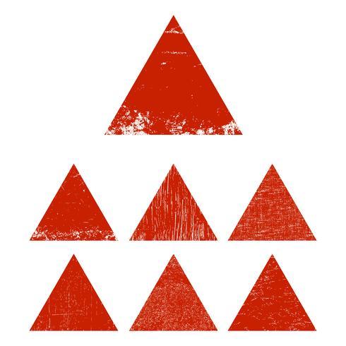 Grunge Dreieck gesetzt vektor
