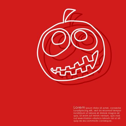 Halloween röd bakgrund vektor