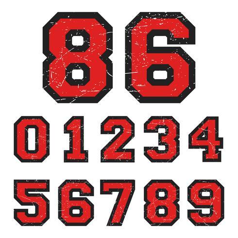 Vintage Nummern Stempel vektor