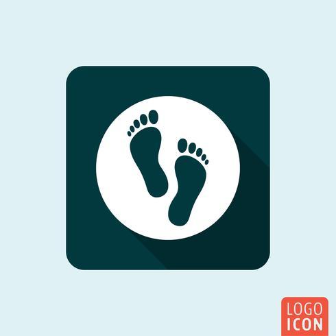 Füße Symbol isoliert vektor