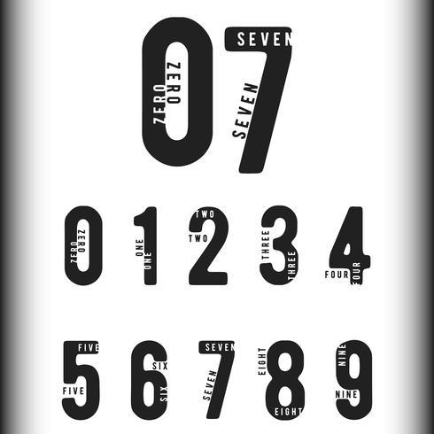 Zahlen Logo oder Symbol vektor