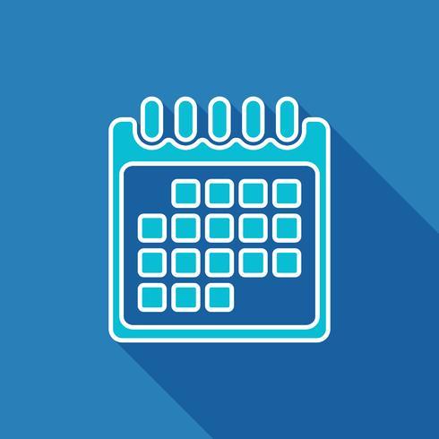Kalenderplattaikonen vektor