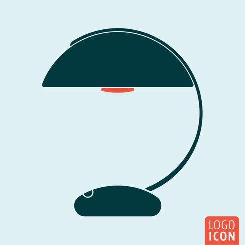 Lampensymbol isoliert vektor