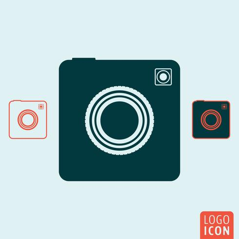Foto kamera ikon vektor