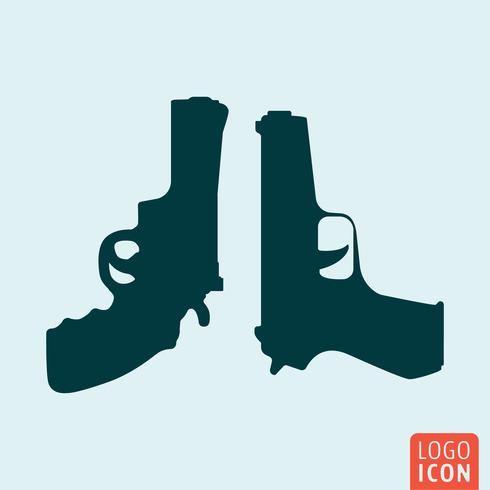 Waffen-Symbol isoliert vektor