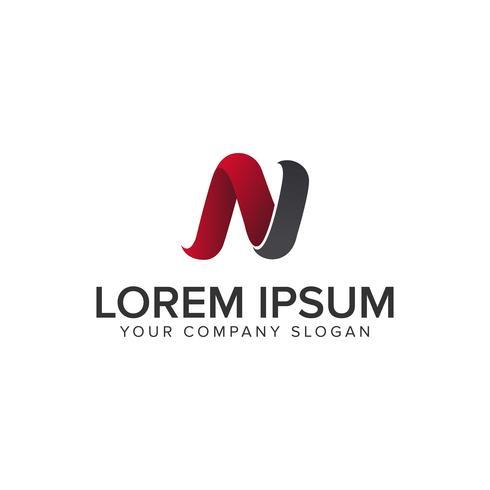 modernt brev N logotyp design koncept mall. helt redigerbar vec vektor