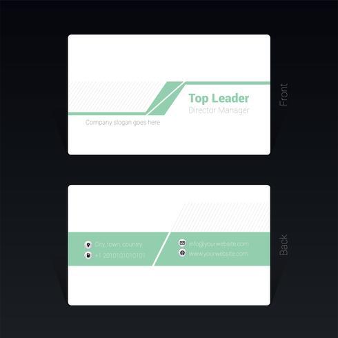 Mininamal-Visitenkarte-Konzept des Entwurfes Vektor-Illustration vektor