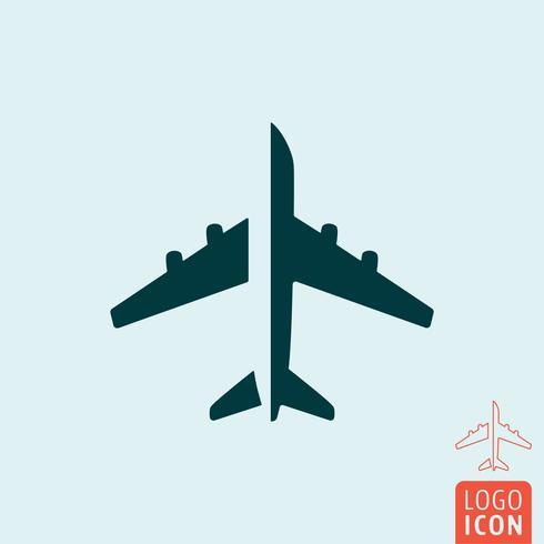 Flygplansikonen isolerad vektor