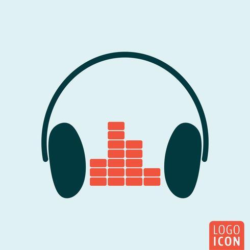 Hörlurar equalizer ikon vektor