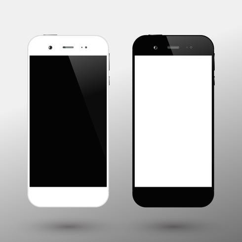 Schwarz-Weiß-Smartphones vektor