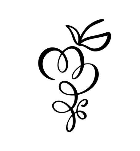 Vektor handgjorda Bunke av druvor skissera doodle ikon frukt. Bunt druvor skiss illustration för logotyp, tryck, webb, mobil och infographics isolerad på vit bakgrund