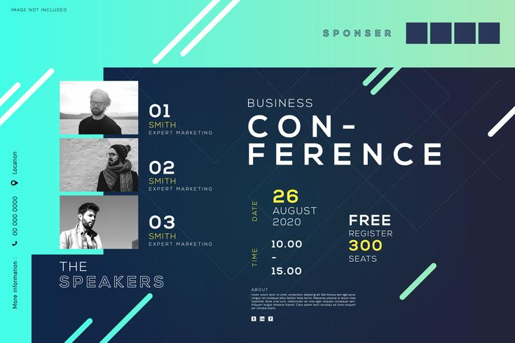 Business Conference Meeting Corporate, creative Design vektor