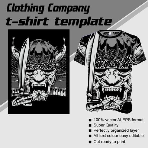 T-shirt mall, helt redigerbar med kranhanteringsvärdvektor vektor