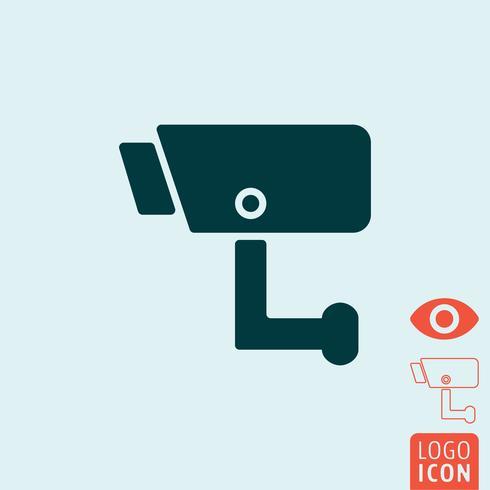 Überwachungssymbol isoliert vektor