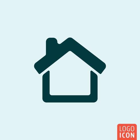 Home Icon minimales Design vektor