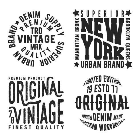 Sats med vintage frimärke vektor