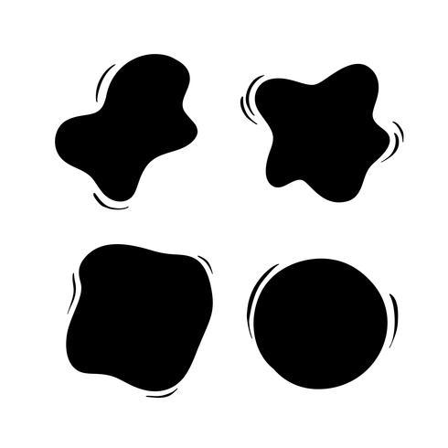 Hand gezeichneter Satz Gegenstände für Designgebrauchsblase. Schwarze Vektorgekritzelkreise auf weißem Hintergrund. Abstrakte Pinselzeichnung. Künstlerische Abbildung grunge Elemente vektor