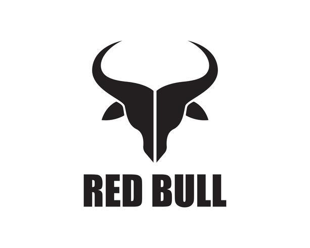 Bull hornlogotyp och symbolmallikoner vektor