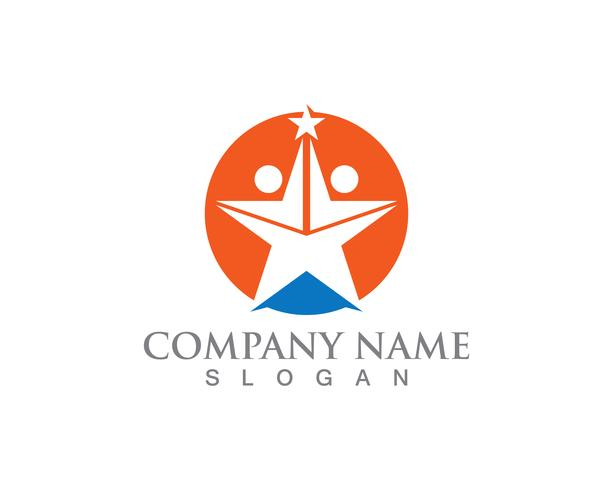 Star folk Logo Succes Mall vektor ikon illustration design