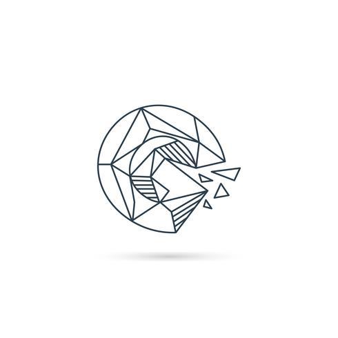 Edelstein Buchstabe g Logo Design Symbol Vorlage Vektorelement isoliert vektor