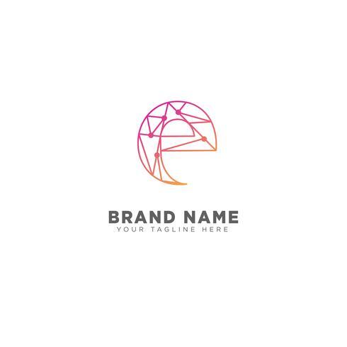 Logo-Designschablonen-Vektorillustration des Buchstaben E für Geschäftsmarke vektor
