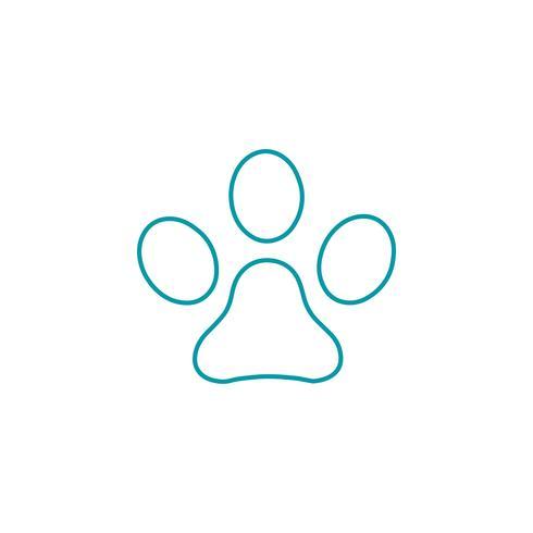 Dog Logo Line design koncept vektor ikon element isolerad