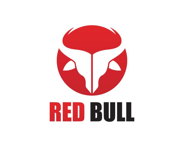 Red Bull Horn logo och symboler mall ikoner vektor