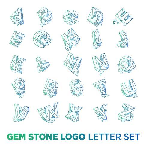Edelsteinbuchstabe az-Logodesignikonenschablonen-Vektorelement lokalisiert vektor
