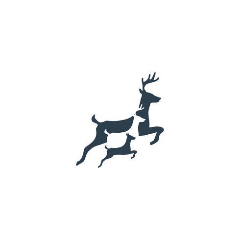 hjort hoppar kreativ logotyp mall vektor illustration ikon element