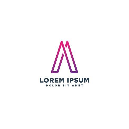 Schreiben Sie eine abstrakte erste Logo Vorlage Vektor Illustration Symbol Element