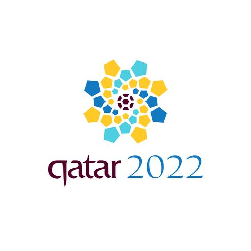 offizielle Logo-Weltmeisterschaft 2022 in Katar Vektor-Design-Symbol oder eine Ikone vektor