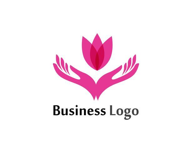 Lotus Flower Sign för Wellness, Spa och Yoga. Vektor illustration